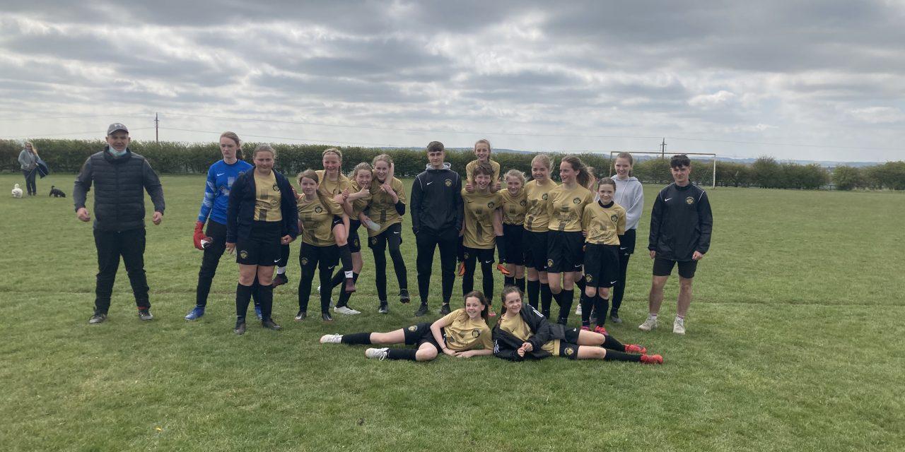 U13s Girls Secure 1st Win ⚽️